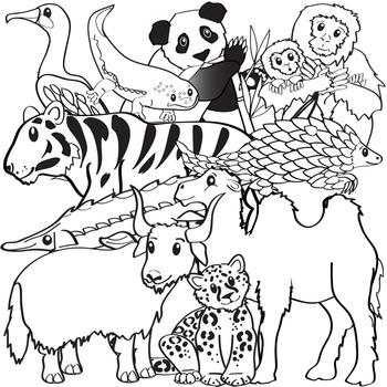 Asian Animals Clip Art