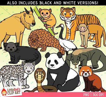 Asian Animals Clipart