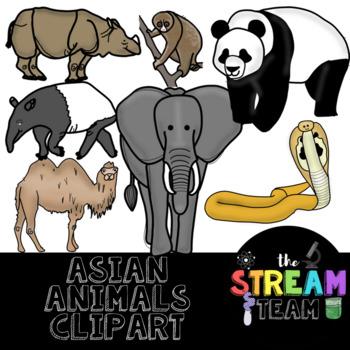 Asian Animals Clipart {Clipart, Asia, Continent Unit}