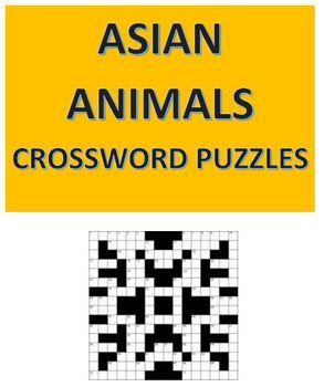 Asian Animals Crossword Puzzles