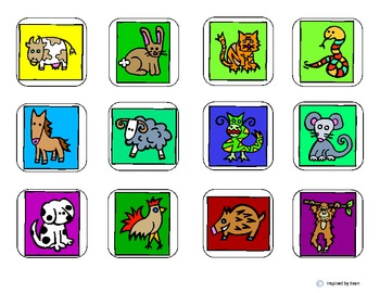 Chinese New Year & Asian Astrology Animals Matching for Autism
