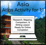 Asian Countries - Asia Atlas Activity for 1:1 Google Drive