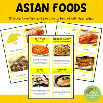 Asian Cuisine Montessori 3 Part Cards