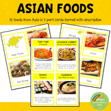 Asian Foods Montessori 3 Part Cards