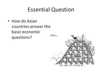 Asian Economies - Presentation, Graphic Organizer, Summarizers