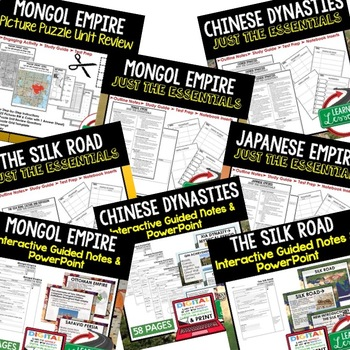 Asian Empires BUNDLE (World History BUNDLE)