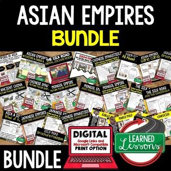 Asian Empires BUNDLE (World History BUNDLE), Digital Distance Learning & Print