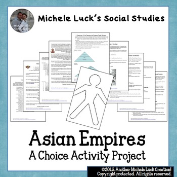 Asian Empires Choice Activity Assignments Cumulative Projects World