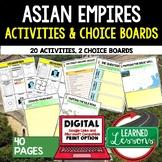 Asian Empires Activities, Choice Board, Print & Digital, Google