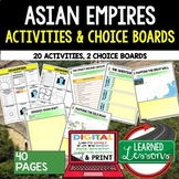 Asian Empires Activities, Choice Board, Print & Digital, Google