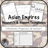 Asian Empires Research and Report Templates w/Teaching Sug