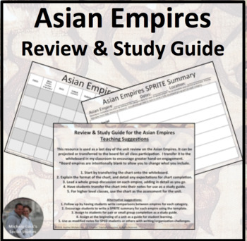 Asian Empires Review and Study Guide Activity
