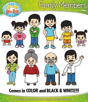 Asian Family Characters Clipart {Zip-A-Dee-Doo-Dah Designs ...