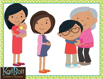 Family Clip Art - Asian