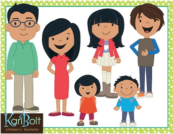 Family Clip Art - Asian by Kari Bolt Clip Art | Teachers ...