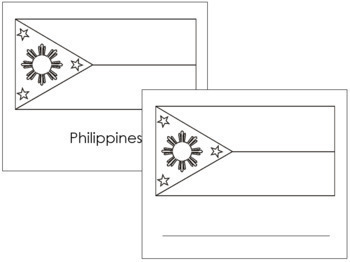 Asian Flags: Outlines