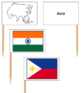 Asian Flags - Pin Map Flags
