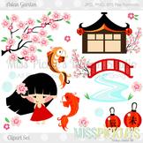 Asian Garden- Commercial Use Clipart Set