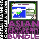 Asian Map and Geography DIGITAL Cards Bundle | Google Clas