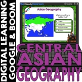 Asian Map and Geography DIGITAL Cards Set 2   Google Class