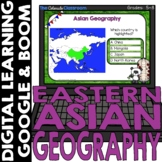 Asian Map and Geography DIGITAL Cards Set 3   Google Class