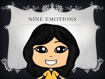 Asian Girl in a Yellow Dress with Nine Different Facial Expressions