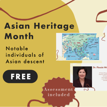 Asian Heritage Month Resource FREEBIE - includes assessment