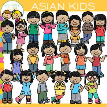Asian Kids Clip Art