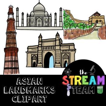 Asian Landmarks Clipart