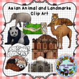 Asian Landmarks and Animals Clip Art