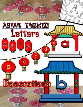Asian Lantern / Temple Themed Letters / Classroom Decorations