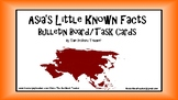 Asian Little Known Facts Task Cards Bulletin Board Activity