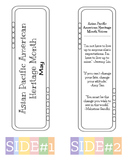 Asian Pacific American Heritage Month Bookmark