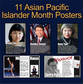 Asian Pacific Islander Month Posters! 11 Posters of Diverse Americans in History