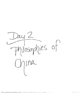 Asian Philosophies: Buddhism, Taoism, Confucianism Notes and organizer