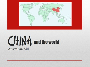 Asian Studies - China and the World (Trade and Aid)