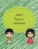 Asian Theme Activities Bundle
