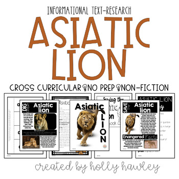 Asiatic Lion-A Research Project