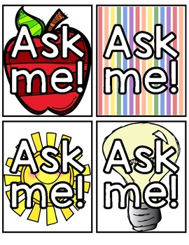 Ask 3 Before Me Badges