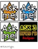 Ask 3 Before Me Badges & Crown