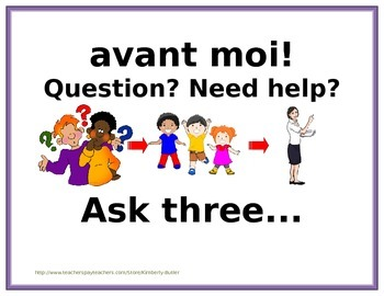 Ask 3 Before Me Bilingual French English
