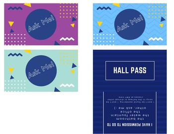 Ask 3 Before Me Bundle (3 colours) AND Hall Pass