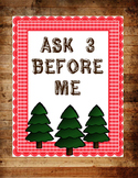 Ask 3 Before Me (Camping Theme)