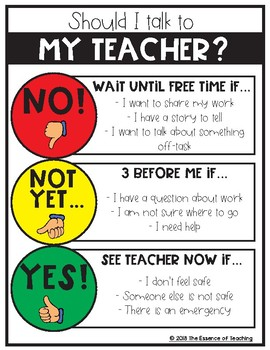Ask 3 Before Me - Classroom Management Tool