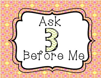 Ask 3 Before Me Dots