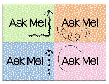 Ask 3 Before Me Lanyard Cards FREEBIE
