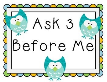 Ask 3 Before Me Owls