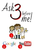 Ask 3 Before Me Poster - Science Classroom