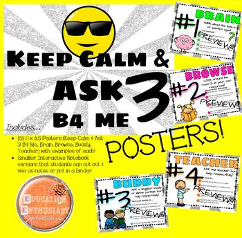 Ask 3 Before Me Poster Set