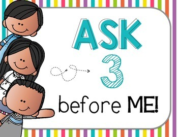"FREEBIE ""Ask 3 Before Me"" Posters, Brights {Bilingual}"